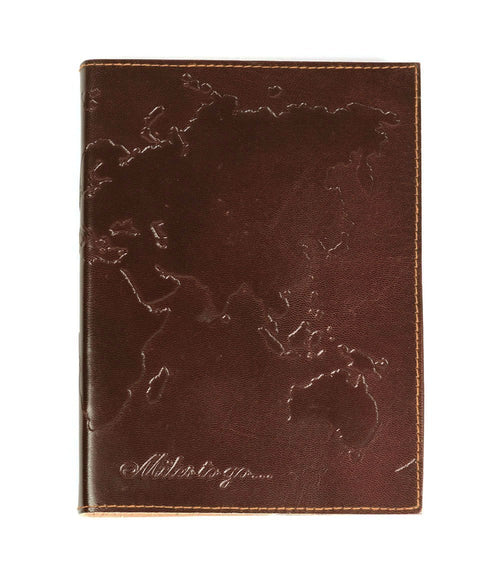 Gift Ideas -  Stationery + Office World Traveler Journal - Sustainable Brown Leather