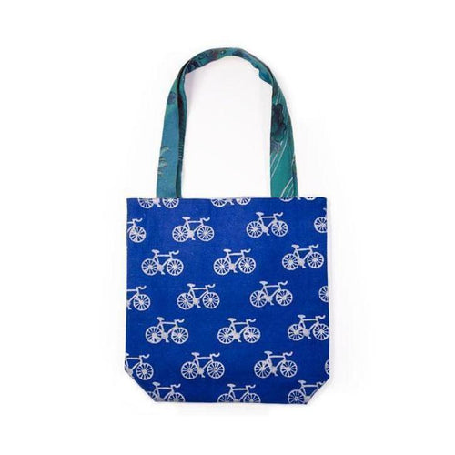 Gift Ideas -  Totes + Shopping Bags Metallic Tote Bag - Bicycles