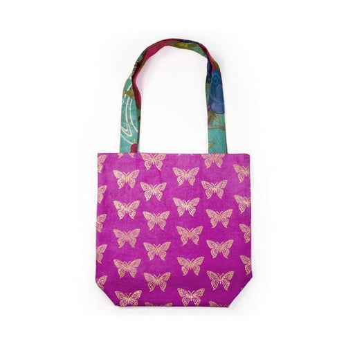 Gift Ideas -  Totes + Shopping Bags Metallic Tote Bag - Butterflies