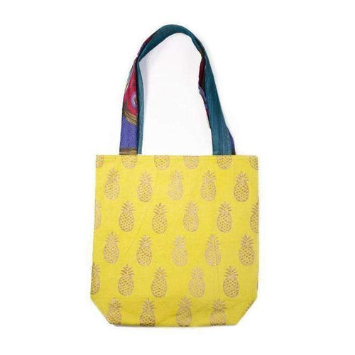 Gift Ideas -  Totes + Shopping Bags Metallic Tote Bag - Pineapple