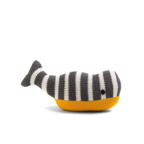 Gift Ideas -  Toys + Plush Cotton Stuffed Whale - Stripey the Whale