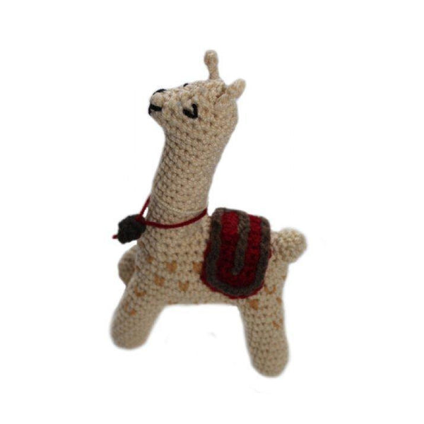 Gift Ideas -  Toys + Plush Crocheted Llama Baby Rattle