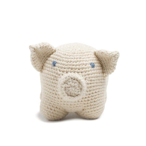 Gift Ideas -  Toys + Plush Organic Cotton Pig - Oliver Oinks