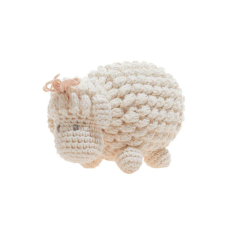 Crocheted Hamburger Baby Rattle