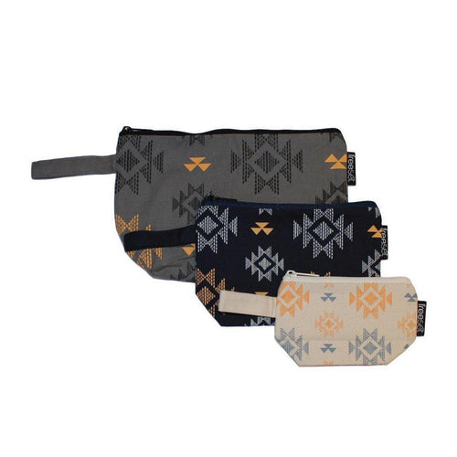 Gift Ideas -  Travel + Organization Aztec Trio Cosmetic Pouches - Set of Three