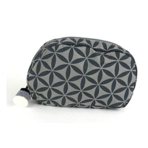 Gift Ideas -  Travel + Organization Flower of Life Makeup Bag - Terra Cotta or Grey