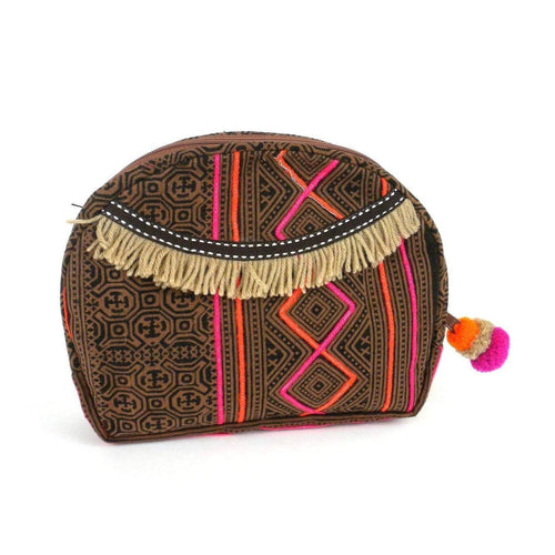 Gift Ideas -  Travel + Organization Hmong Batik Cosmetic Bag - Earth