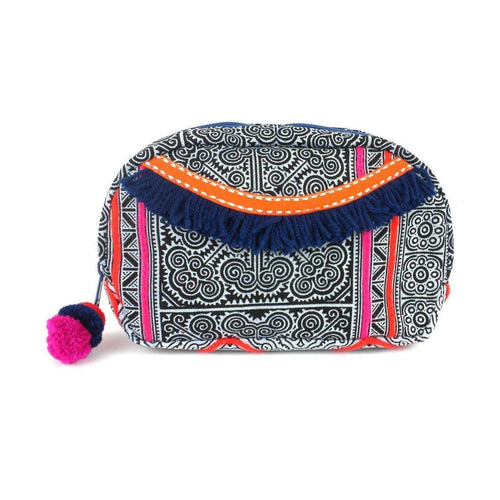 Gift Ideas -  Travel + Organization Hmong Batik Makeup Bag - Indigo