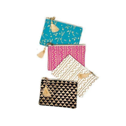 Gift Ideas -  Wallets + Coin Purses Metallic Block Print Coin Purse