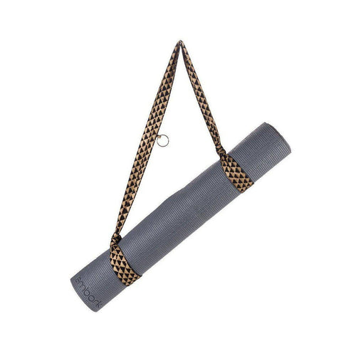 Gift Ideas -  Yoga + Lifestyle Metallic Block Printed Yoga Mat Strap