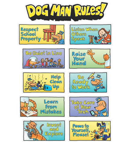 Dog Man Class Rules Mini Bulletin Board Set
