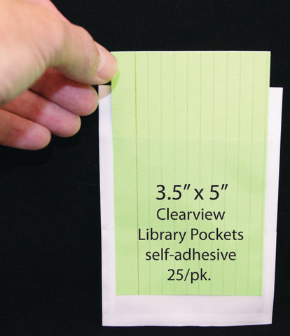 Library Pocket Clear 25Ct