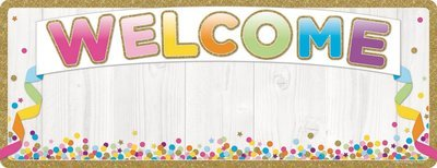 Welcome Confetti Poly Banner
