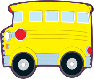 School Bus Colorful Cut-Outs