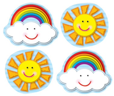 Suns & Rainbows Shape Stickers
