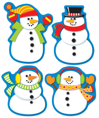 Snowmen Shape Stickers
