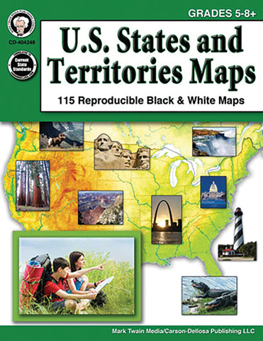 Us States & Territories Maps Bk