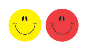 Smiley Faces Multicolor Shape St