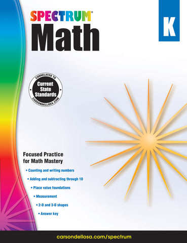 Spectrum Math K Workbook