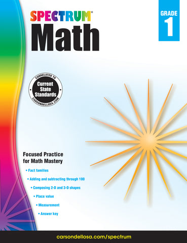 Spectrum Math 1 Workbook