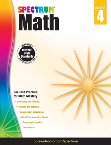 Spectrum Math 4 Workbook