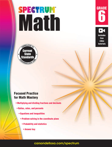 Spectrum Math 6 Workbook