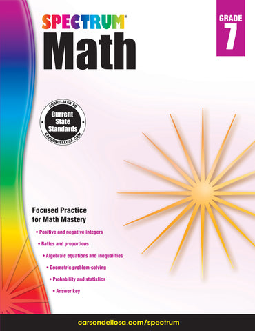 Spectrum Math 7 Workbook