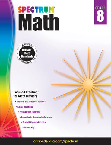 Spectrum Math 8 Workbook
