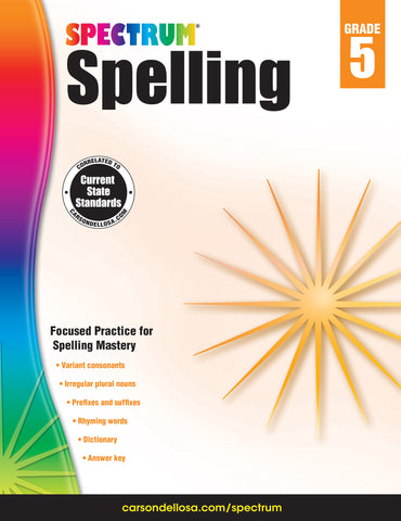 Spectrum Spelling 5 Workbook