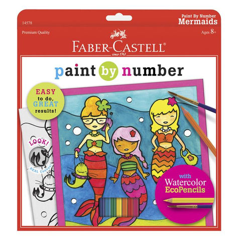 Paint By Number Mermaids Kit