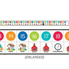 Linear Calendar Core Decor Bulletin Board Set