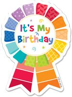 Happy Birthday Painted Badges