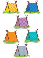Pup Tents Cut-Outs