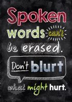 Spoken Words Cant Poster