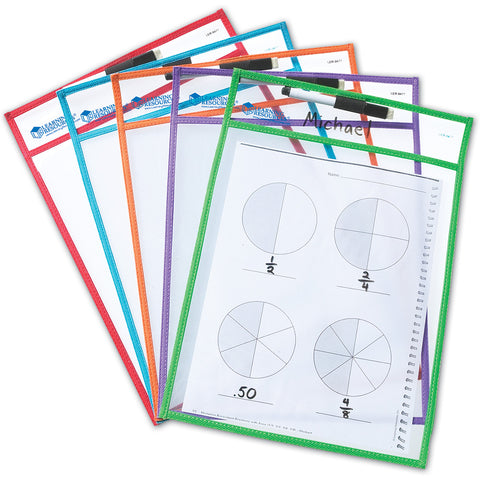 Write & Wipe Pockets Set Of 5
