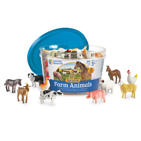 Farm Animals Counters 60Ct