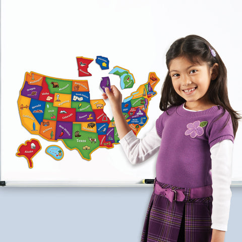 Us Map Magnetic Puzzle
