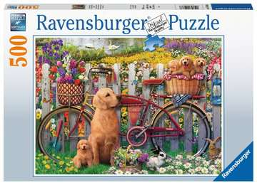 Cute Dogs In The Garden 500 Pc Pz