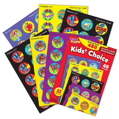 Kids Choice Stinky Sticker Variety Pack