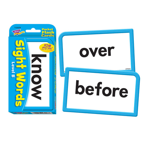 Sight Words Level-B Flash Cards