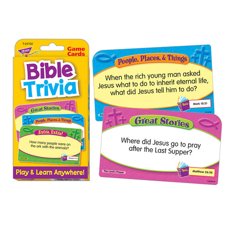 Bible Trivia Game Cards