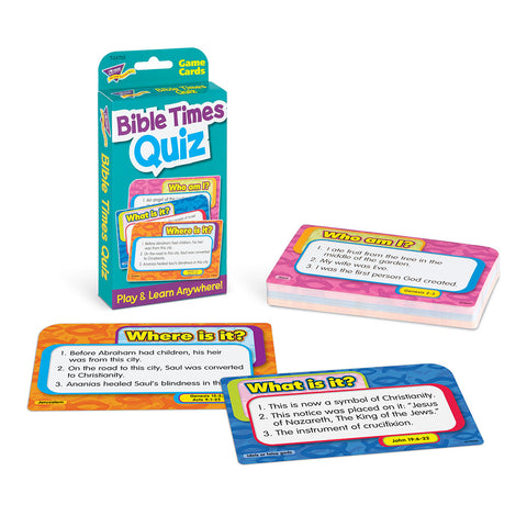 Bible Times Quiz Game Cards