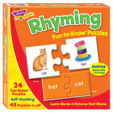 Rhyming Fun-To-Know Puzzles