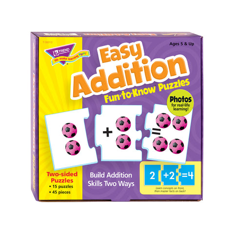 Easy Addition Fun-To-Know Puzzle