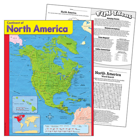Continent Of North America Chart