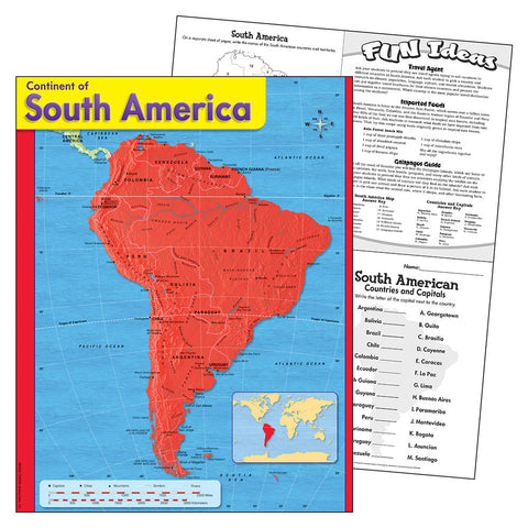 Continent Of South America Chart
