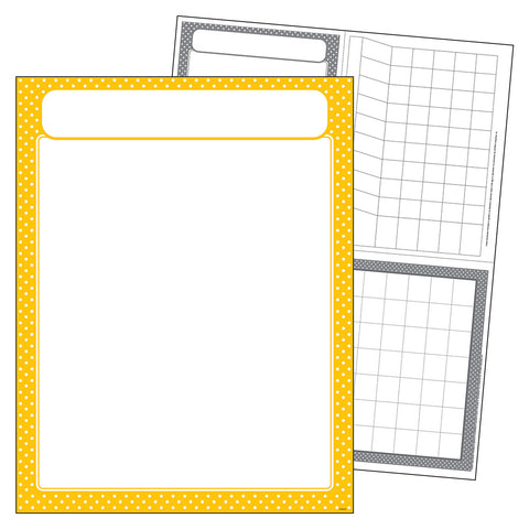 Yellow Polka Dots Blank Chart