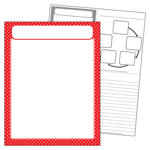 Red Polka Dots Blank Chart