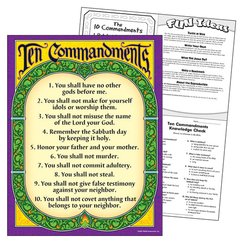 Ten Commandments Chart