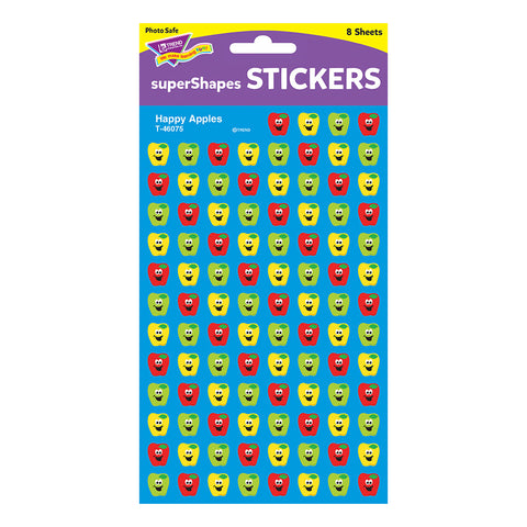 Happy Apples Supershapes Stickers